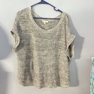 Eileen Fisher short sleeved sweater L